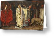 Edwin Austin Abbey 1852-1911 King Lear, Cordelias Farewell Greeting Card