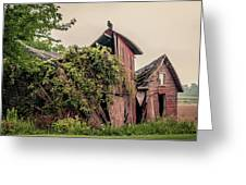 Eerie Barn Greeting Card