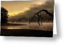 Eerie Dawn Greeting Card by Lori Deiter