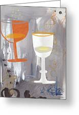Efervescent Champagne Cups Greeting Card