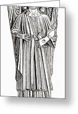 Effigy Of King John On His Tomb In Greeting Card