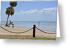 E G Simmons Park Beach Greeting Card