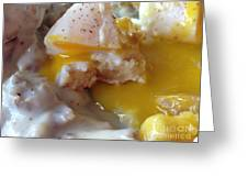 Egg And Gravy Greeting Card