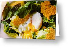 Egg And Greens Greeting Card