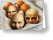 Eggheads Greeting Card by Anthony Caruso