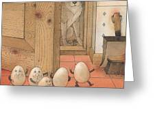 Eggs And Dog Greeting Card