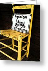 Eggs For Sale Greeting Card