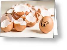 Eggs Have Feelings Too Greeting Card