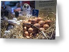 Eggsactly What You Are Looking For - La Bouqueria - Barcelona Spain Greeting Card