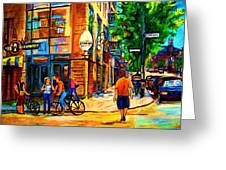Eggspectation Cafe On Esplanade Greeting Card