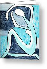 Eggtree Abstract Art Figure Greeting Card