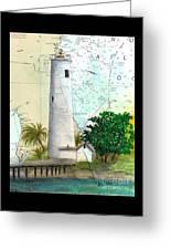 Egmont Key Lighthouse Fl Nautical Map Greeting Card