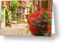 Half-timbered House, Eguisheim, Alsace, France  Greeting Card