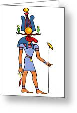 Egyptian God - Khensu Greeting Card