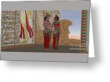 Egyptian King And Queen Greeting Card