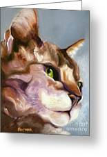 Egyptian Mau Princess Greeting Card by Susan A Becker