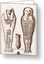 Egyptian Mummy, Illustration Greeting Card