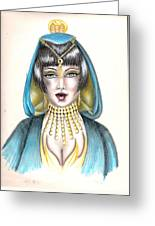 Egyptian Princess Greeting Card by Scarlett Royal