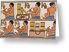 Egyptian Scribes Greeting Card