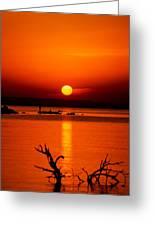 Egyptian Sunrise On Lake Nasser Greeting Card