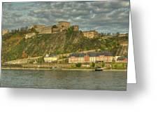 Ehrenbreitstein Fortress On The Rhine Greeting Card
