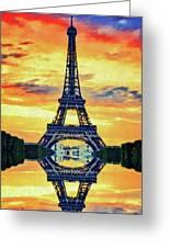 Eifel Tower In Paris Greeting Card