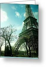 Eifell Tower View From Taxi II. Greeting Card