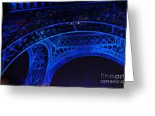 Eiffel Blue Greeting Card