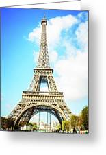 Eiffel Tower Portrait Greeting Card