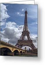 Eiffel Tower And Pont D'lena Greeting Card