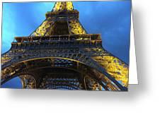 Eiffel Tower At Night. Paris Greeting Card