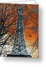 Eiffel Tower Behind The Trees Pop Art Greeting Card