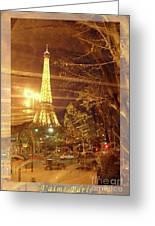 Eiffel Tower By Bus Tour Greeting Card Poster Greeting Card