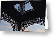 Eiffel Tower Corner Greeting Card