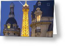 Eiffel Tower From Passy Greeting Card by Brian Jannsen