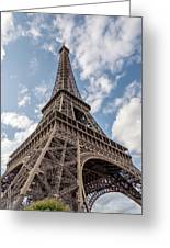 Eiffel Tower In Paris Greeting Card
