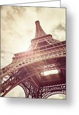 Eiffel Tower In Sunlight Greeting Card
