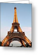 Eiffel Tower Lighted  Greeting Card