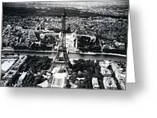 Eiffel Tower Paris In Wwii Greeting Card