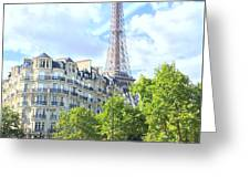 Eiffel Tower Paris Greeting Card