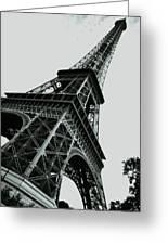 Eiffel Tower Slightly Askew Greeting Card