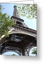 Eiffel Tower Spring Greeting Card