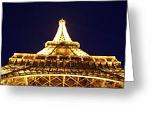 Eiffel Tower Straight Up  Greeting Card