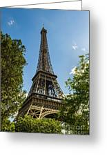 Eiffel Tower Through Trees Greeting Card