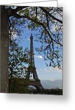 Eiffel Tower Tree Greeting Card