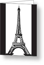 Eiffel Tower Up Greeting Card
