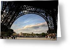 Eiffel Tower View Greeting Card