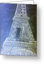 Eiffil Tower Inverted Greeting Card