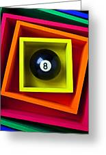 Eight Ball In Box Greeting Card