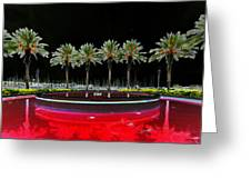 Eight Palms Drinking Wine Greeting Card